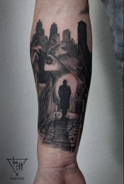 Tattoo November Mood by Guy Labo-O-Kult