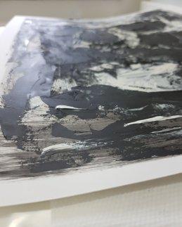 Detail Monoprint Skull by Guy Labo-O-Kult   201911
