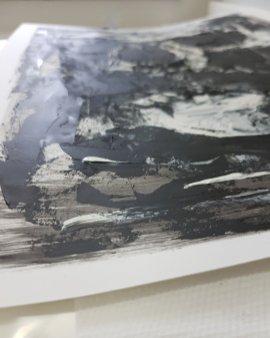 Detail Monoprint Skull by Guy Labo-O-Kult | 201911
