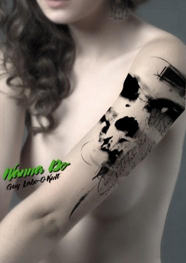 "Idée de motif ""Skull & Script"" - Guy Labo-O-Kult"