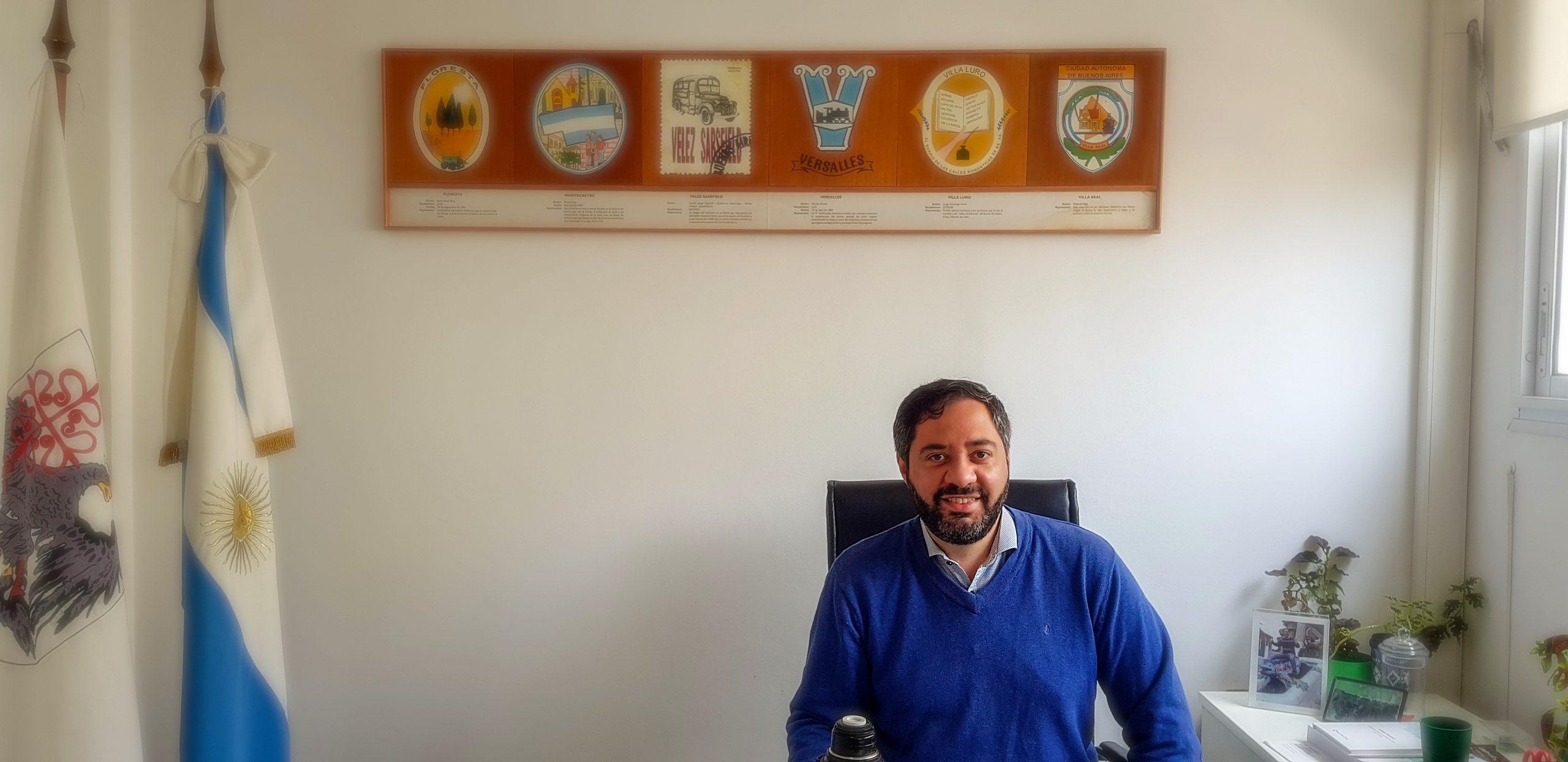 Reportaje al presidente de la Comuna 10