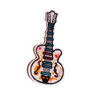 Écusson brodé thermocollant de guitare