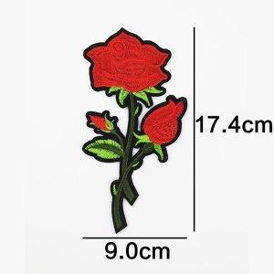 Écusson brodé thermocollant de fleur