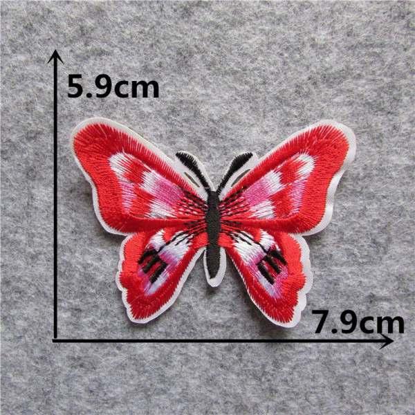 Écusson brodé thermocollant de papillon