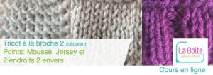 apprendre à tricoter à la broche 2