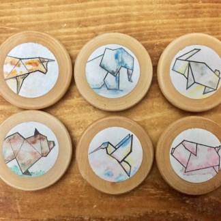 6-aimants-bois-vernis-3.5cm-animaux-origami-la-boite-ateliers-creatifs