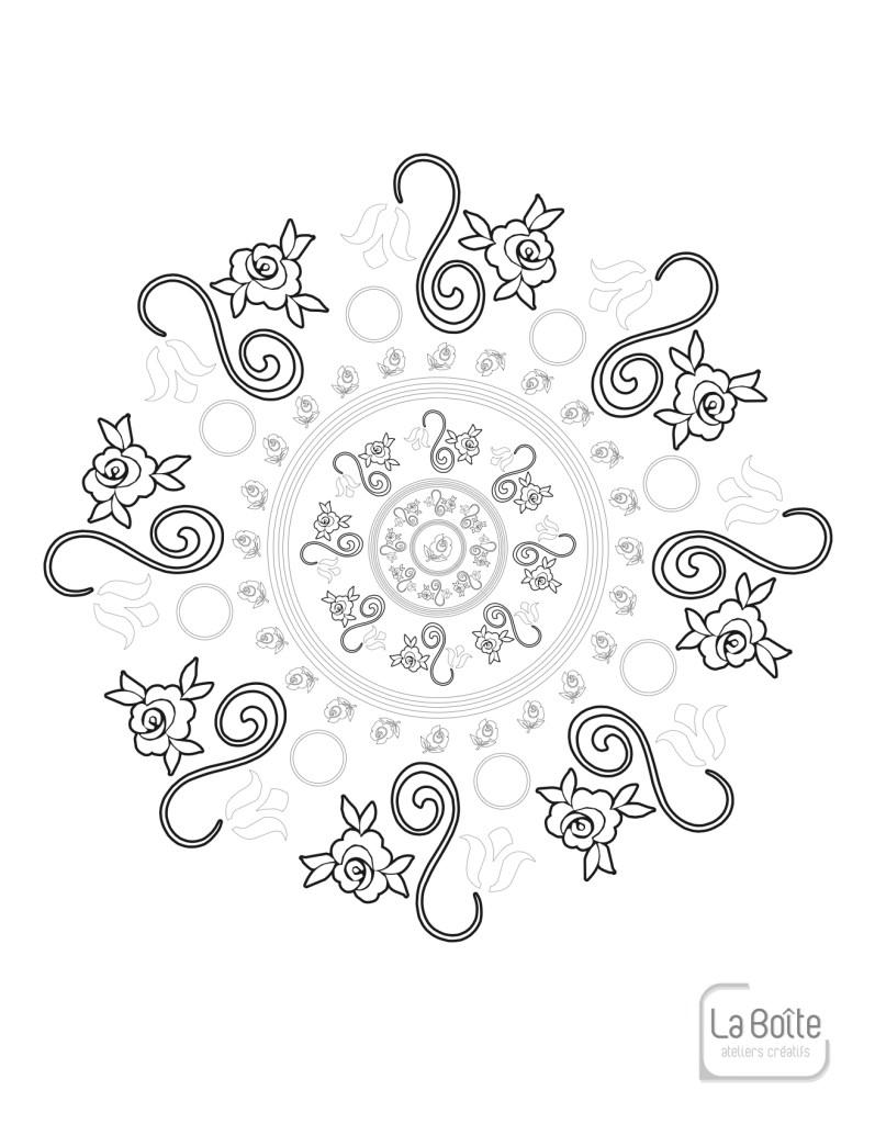 coloriage mandala 3