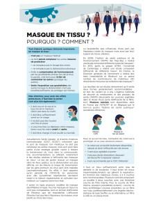 masque facial réutilisable en tissus info usage et entretien CHUM p1