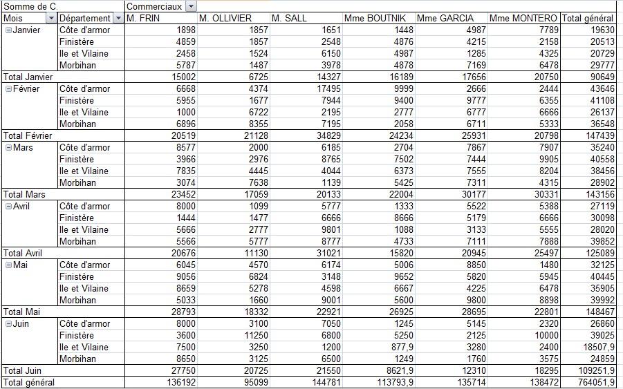 Tableau Croise Dynamique Avec Excel 2010 La Boite A Tice