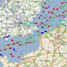Le traffic maritime mondial en temps réel