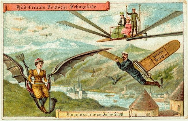 carte postale 2000 futur 05 En 1900, des cartes postales imaginent lan 2000
