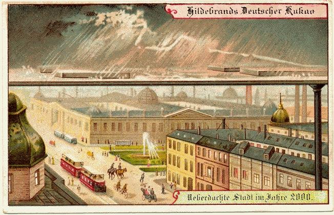 carte postale 2000 futur 09 En 1900, des cartes postales imaginent lan 2000