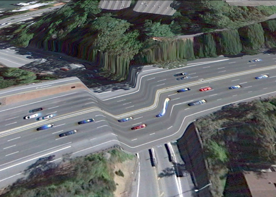 pont route google earth altitude relief 3d 02 Les ponts de Google Earth
