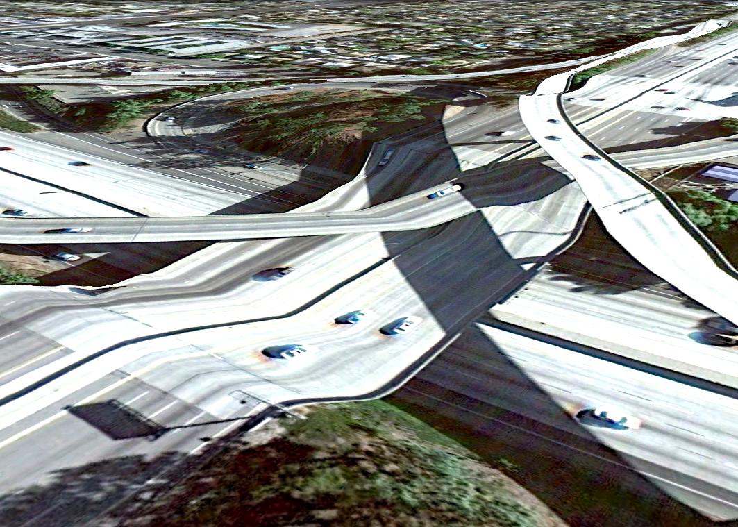 pont route google earth altitude relief 3d 16 Les ponts de Google Earth