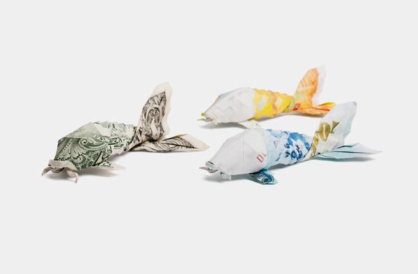 origami billet banque 07 Origamis en billets