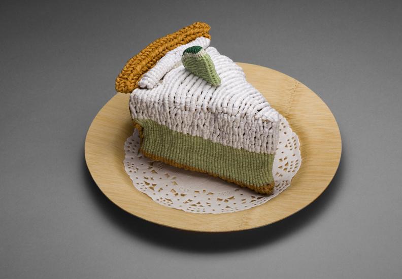 gateau nourriture aliment laine tricot 02 De la nourriture tricotée
