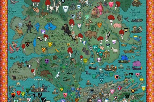 Carte Du Monde De Game Of Thrones