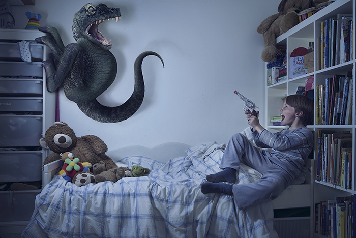 monstre nuit photoshop 02 Des monstres et des enfants dans la nuit