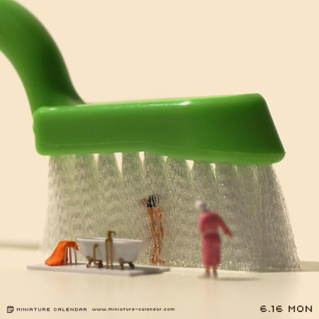 calendrier diorama miniature 01 Un diorama miniature par jour avec des objets détournés