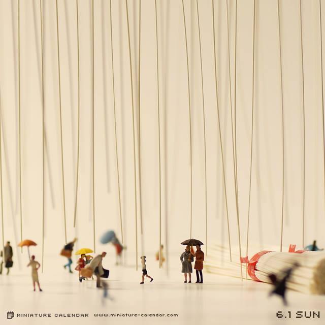 calendrier diorama miniature 08 Un diorama miniature par jour avec des objets détournés