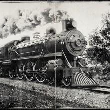 Des photos panoramiques anciennes de véhicules