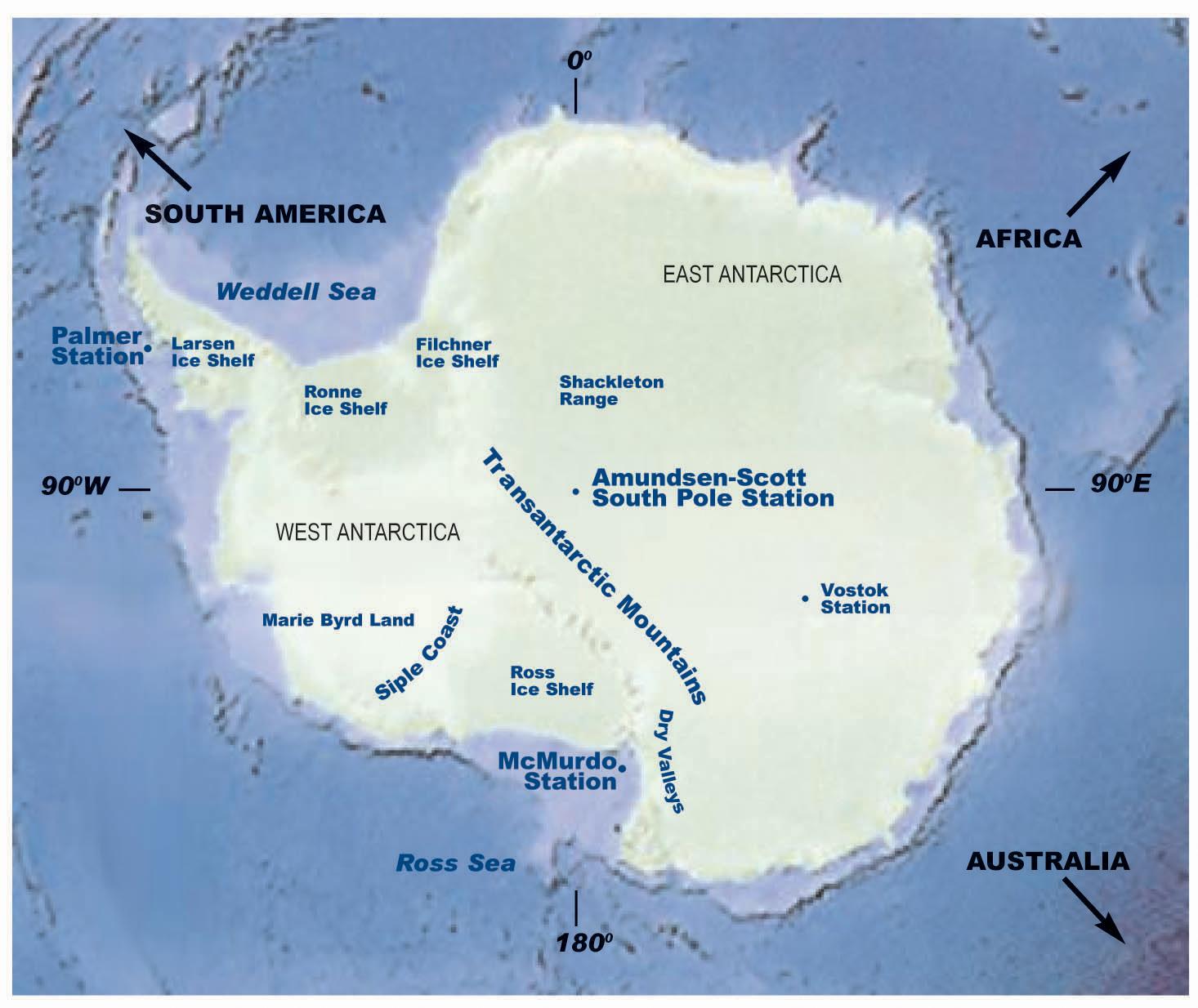Carte Antarctique La Boite Verte