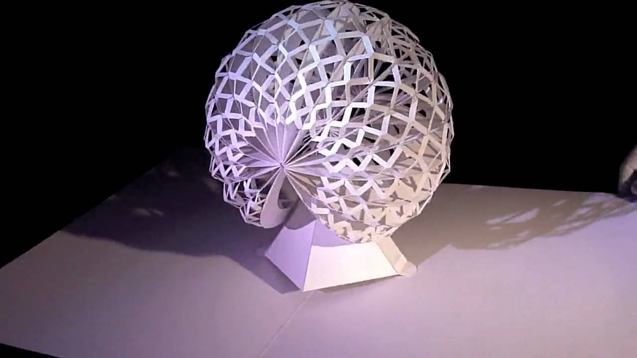 Des Sculptures Pop Up En Papier