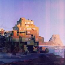 Des paysages naturels et urbains rétrofuturistes par James Gilleard
