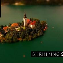 La Slovénie toute petite comme une maquette animée