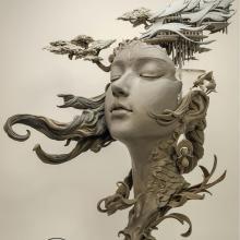 Des arabesques de rêveries intégrées à des bustes délicats