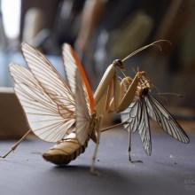 Des sculptures d'insectes incroyablement réalistes tout en bambou