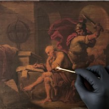 La restauration commentée de l'assassinat d'Archimède par Julian Baumgartner