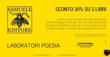 Buono Sconto Samuele Editore a Pordenonelegge 2018