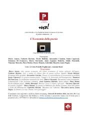 Seminario su L'Economia della Poesia – Roma, 28 ottobre