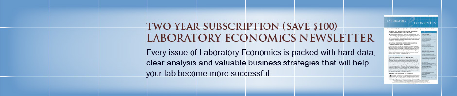 Save $100 on Two Year Subscription to Laboratory Economics