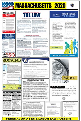 2021 massachusetts state and federal labor law poster ma