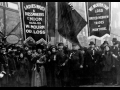Garment workers march in protest.