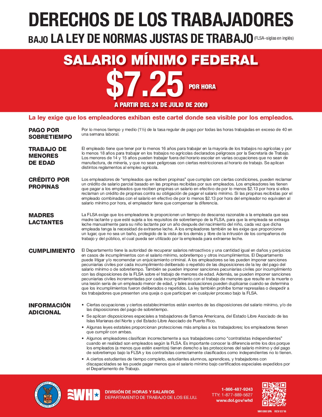 free federal minimum wage spanish 2021
