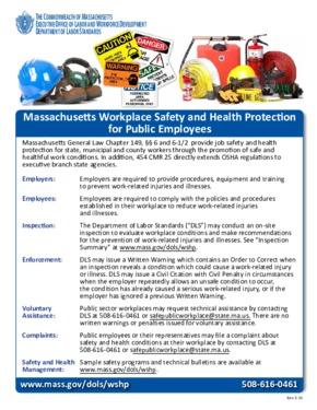free massachusetts labor law posters
