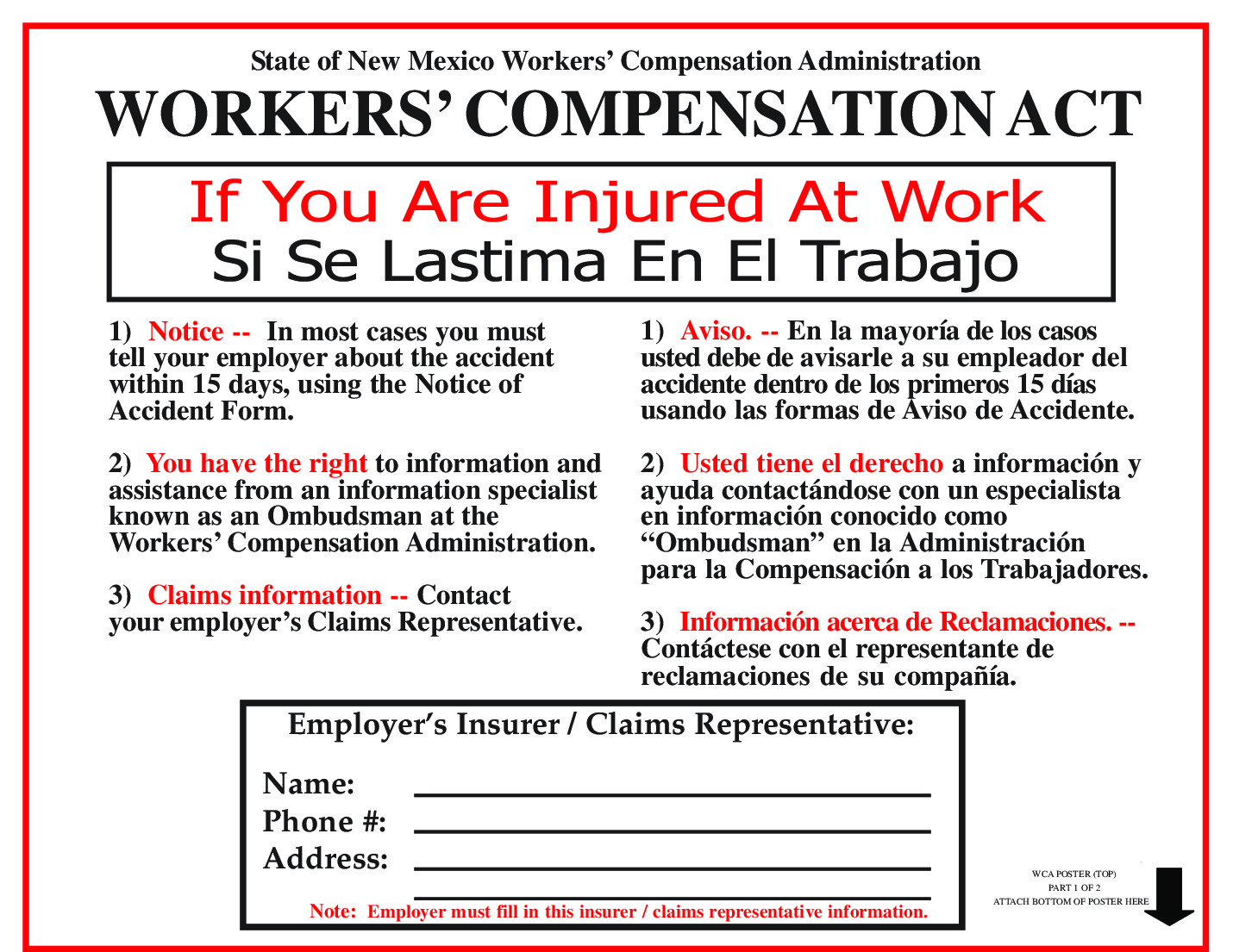 new mexico workers compensation act