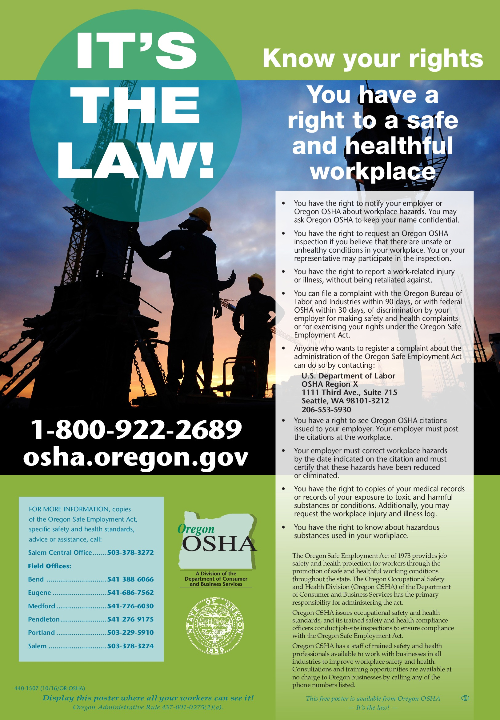 health poster labor law poster