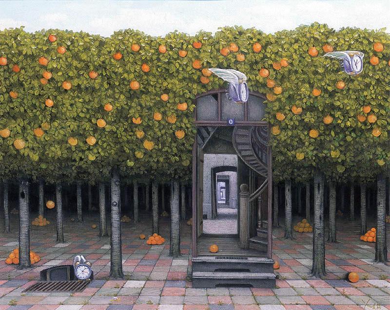 Jacek-Yerka-Orange-grove