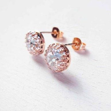 Orecchini in argento 925 rosé e Swarovski Crystal