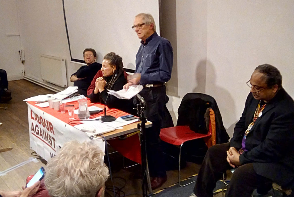 Image result for ken loach labour against the witch hunt meeting