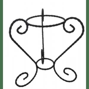 porte plante tripode ancien fer forge