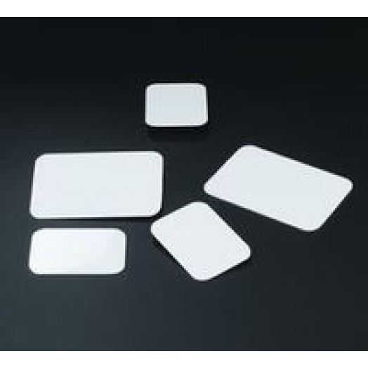 etiquettes a gateaux rectangle blanche en plastique 5x7 cm