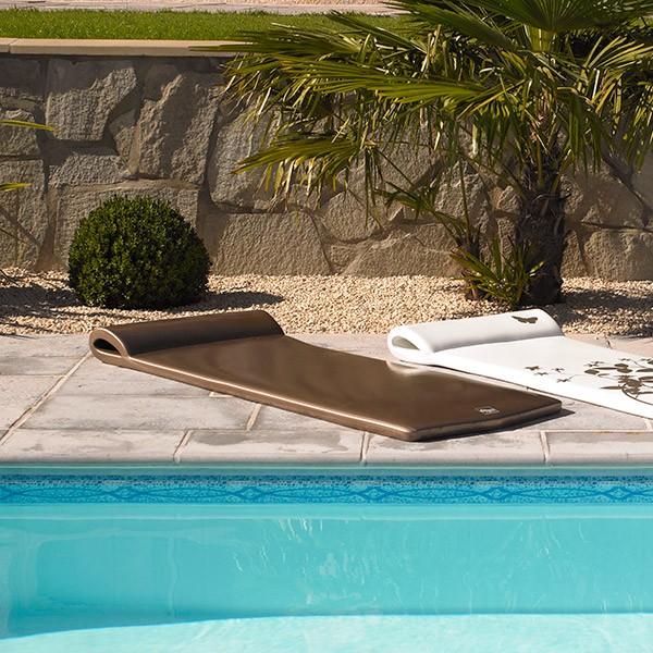 matelas mousse piscine aquatico bronze