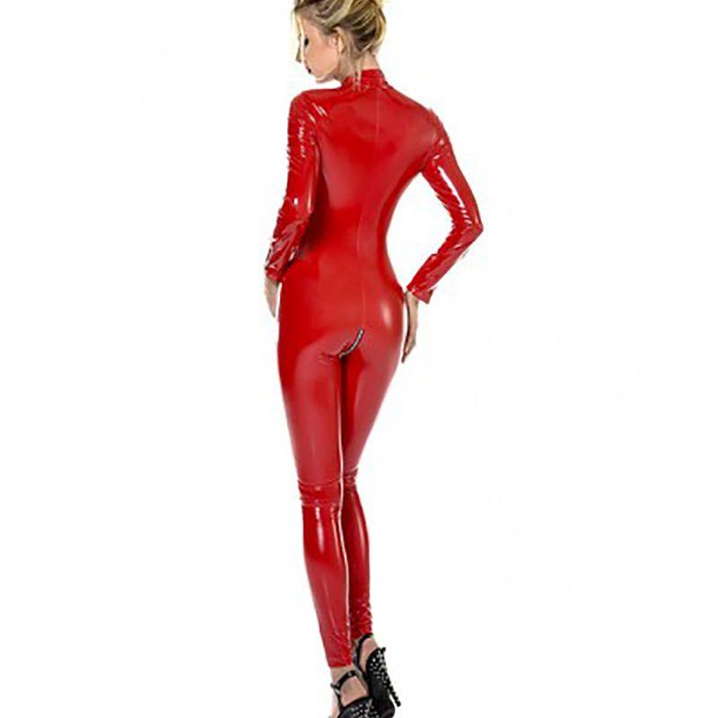 acheter une combinaison rouge vinyle hyper sexy