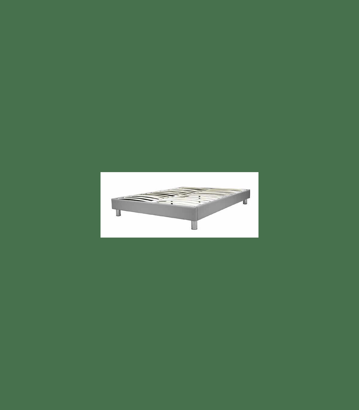 Sommier Deco Lbdm Cadre Design 26 Lattes Nues En Multiplis Plusieurs Revetements Pieds Chromes Demontable