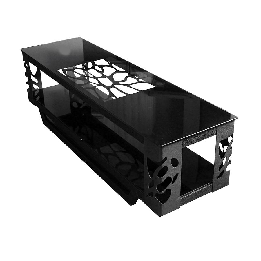 meuble tv design en verre et metal 603